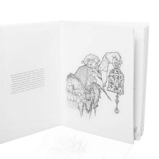 Sketches from Norse Gods, A Colouring Book