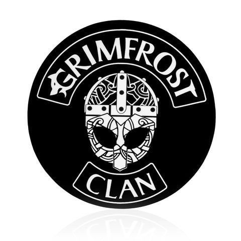 Grimfrost Clan Sticker, Rund