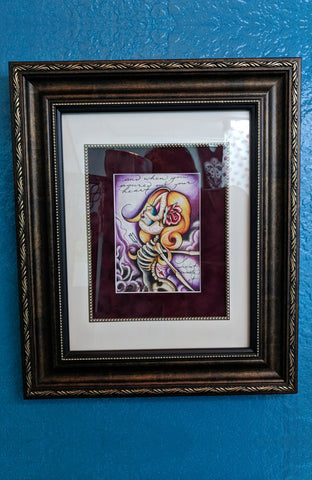 Suicide King Framed Original Art