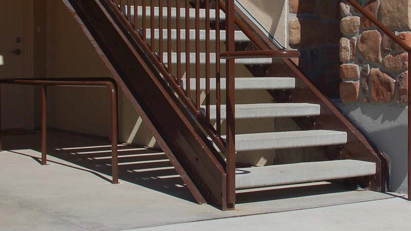 Hardy MFG Concrete Stair Treads in Utah and Colorado.