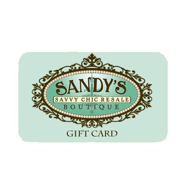 [product vendor] Gift Card - Sandy's Savvy Chic Resale Boutique