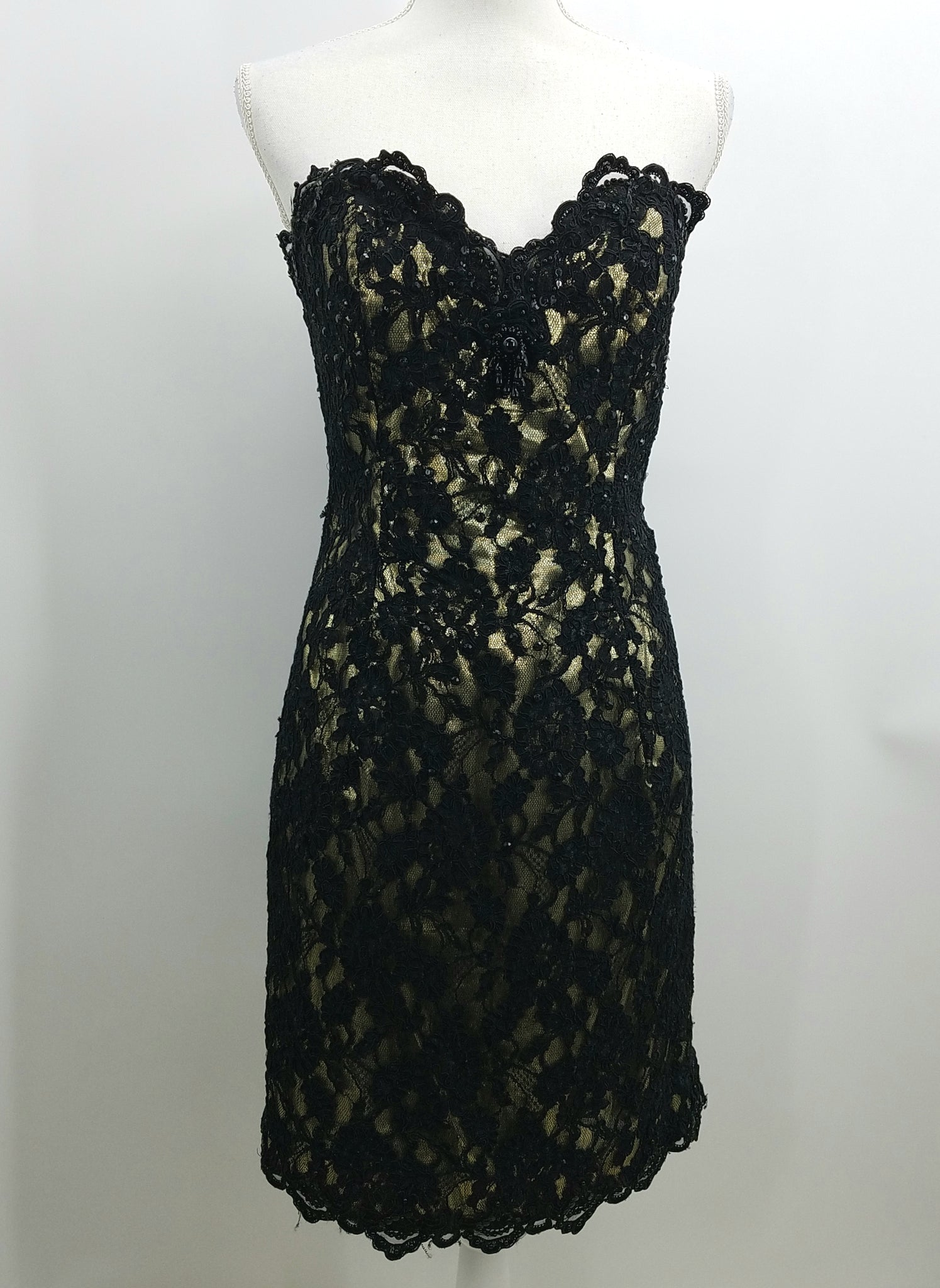 Women's After Five Black Cocktail Dress Front