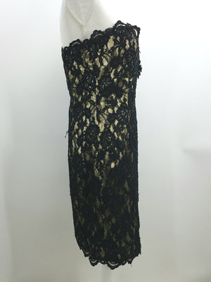 Women's After Five Black Cocktail Dress Side View