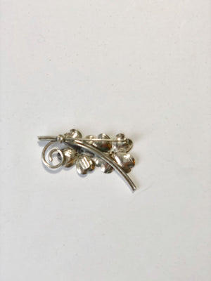 Beau Sterling Silver Vintage Pin