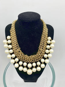 Costume Gold & Ivory Necklace