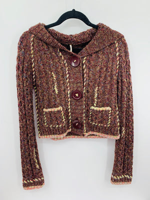Free People Burgundy Sweater