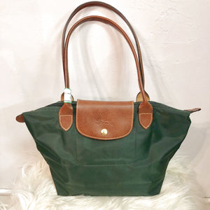Longchamp Green Purse, Barrel