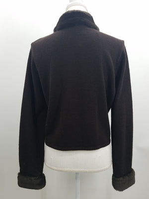 Nina Leonard Brown Sweater