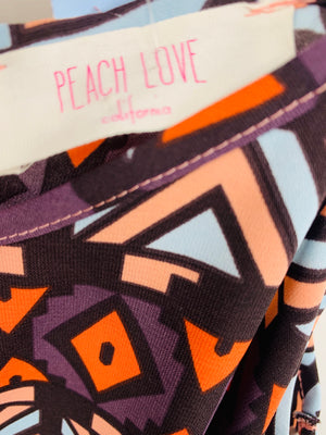 Peach Love Black Shirt