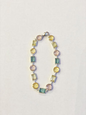 Sterling Silver Multi-Color Bracelet