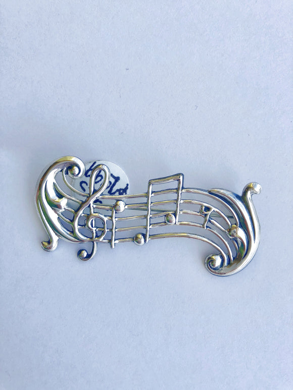 Sterling Silver Musical Note Pin