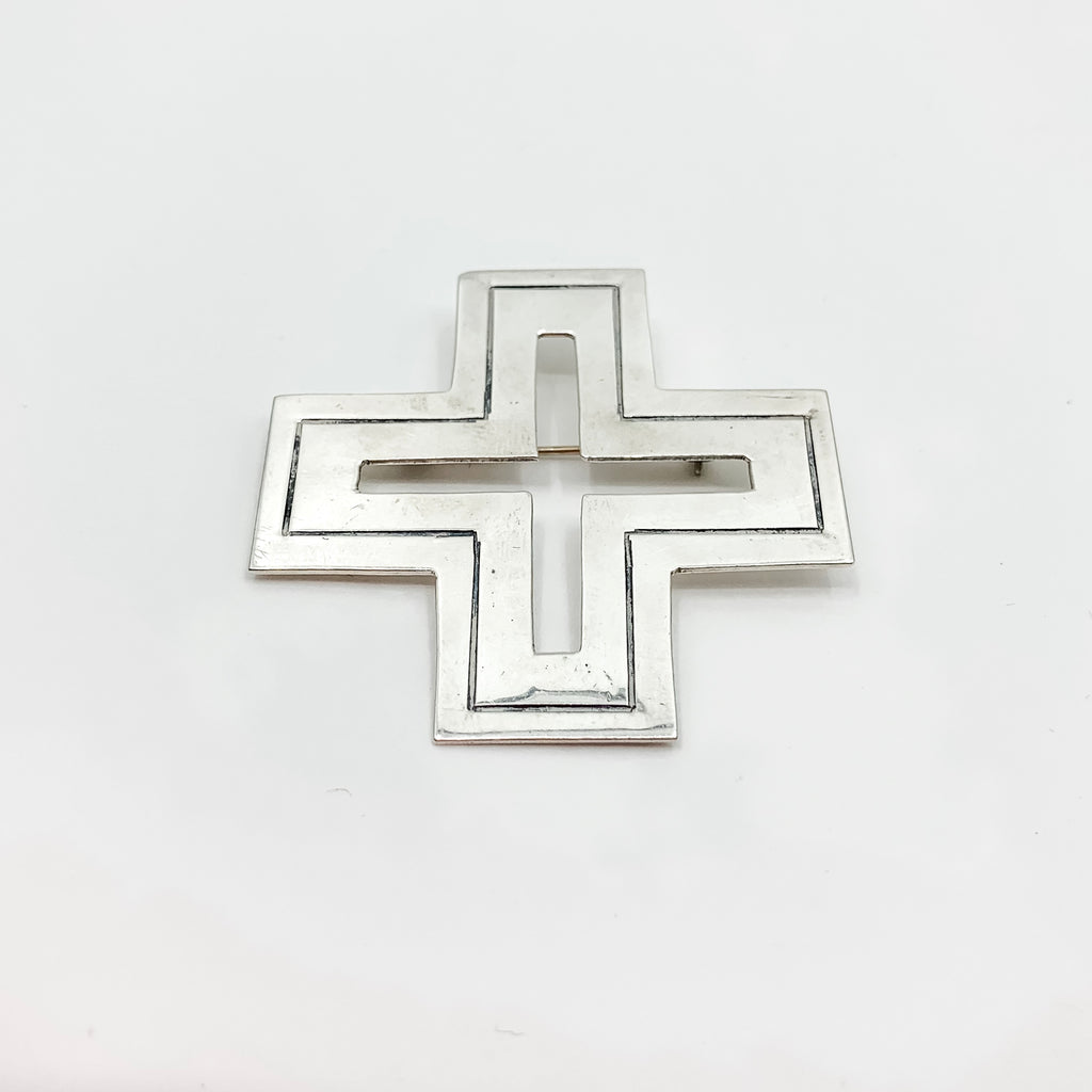 Sterling Silver Vintage Cross Pin