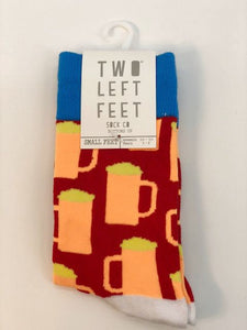 Two Left Feet Blue & Red Socks,