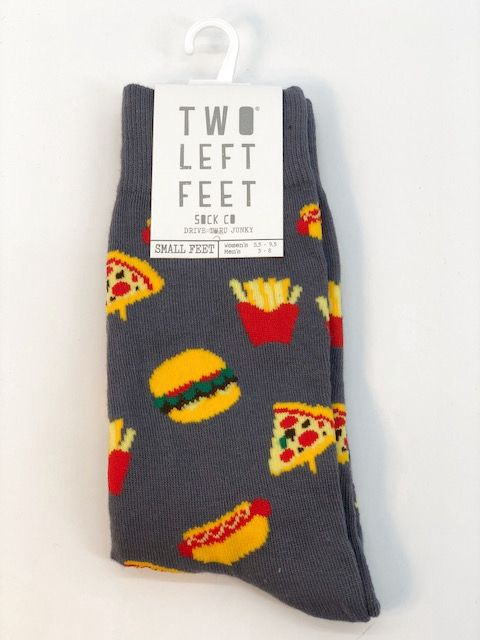 Two Left Feet Gray Socks,