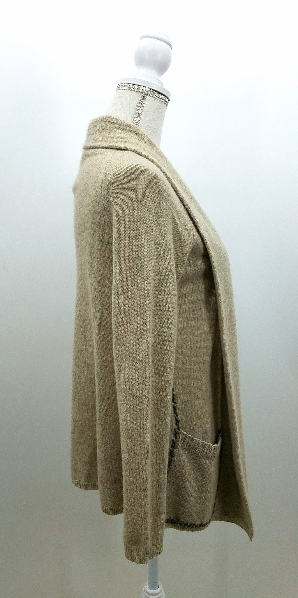 White & Warren Tan Sweater