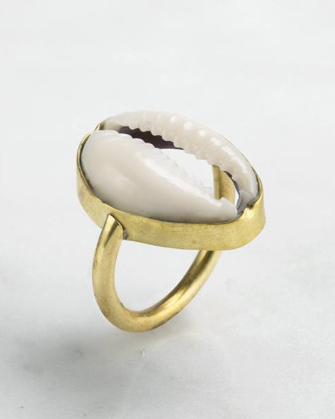 Mirage Cowrie Shell Ring