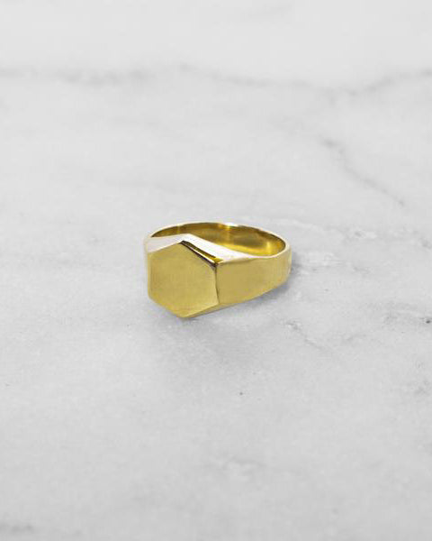 Hex Signet Ring
