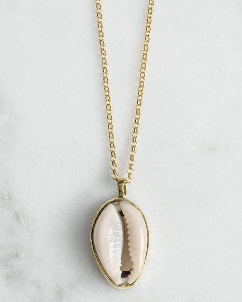 Mirage Cowrie Shell Pendant Necklace