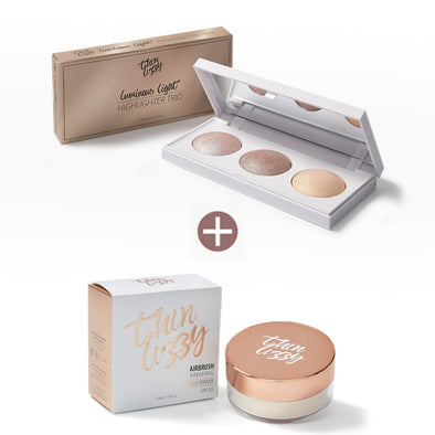 Luminous Light Highlighter Trio with Free Loose Airbrush Setting Powder