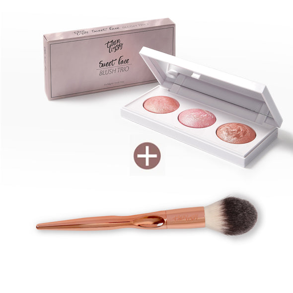 Sweet Face Blush Trio with Free Flawless Finish Blush Brush