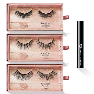 Magnificent Magnetic Lashes Starter Kit - 3 Pairs with Eyeliner