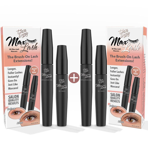 Max Lash Fibre Mascara - Buy One Get One Free. Total Value $59.98, Now Only $29.99!
