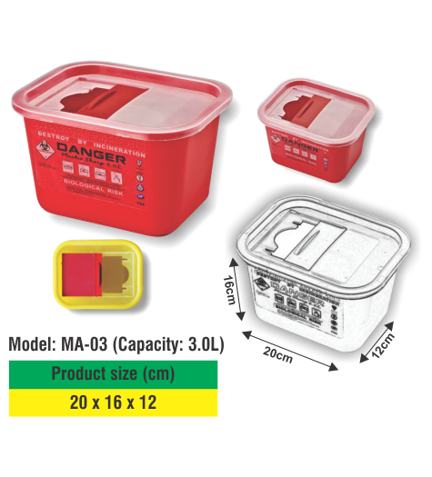 SHARP CONTAINER HS-03 (Capacity: 3.0L)