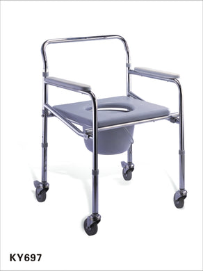 COMMODE CHAIR WITH WHEEL KY-697 FOLDING