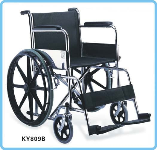 Wheel Chair Folding KY809B Black Rim