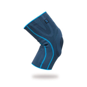 Elastic knee support with silicone padding and side stabilizers – P701