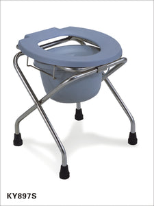 KY897 Commode Stool foldable chrome