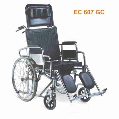 KY607GC-46 Reclining Commode Wheel Chair