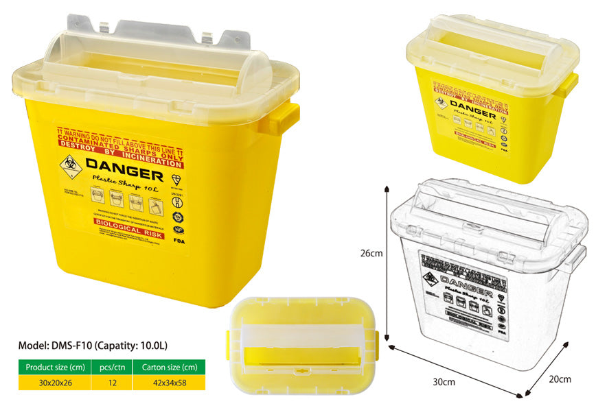 Model: DMS-F10  10.0L SHARPS CONTAINER
