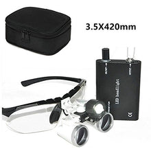3.5x 420mm Working Distance Surgical Binocular Loupes Medical