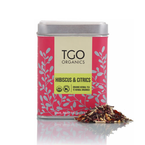 HIBISCUS & CITRICS TE HERBAL ORGANICO 100 GR