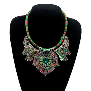 Collier bohème multicolore pour femme style ethnique tribal XL hippie - My nature