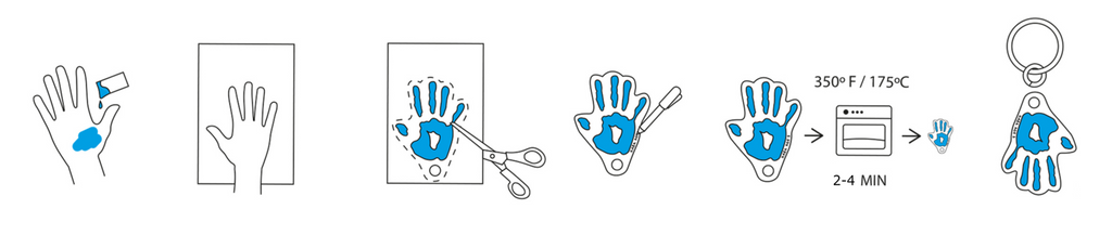 How to make a DIY Handprint Shrinky Dink Key Chain