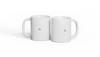 Two Broken Image Mugs on a white background PNG image