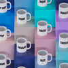 Collection of Limited Edition Music Mugs arranged on colourful boxes