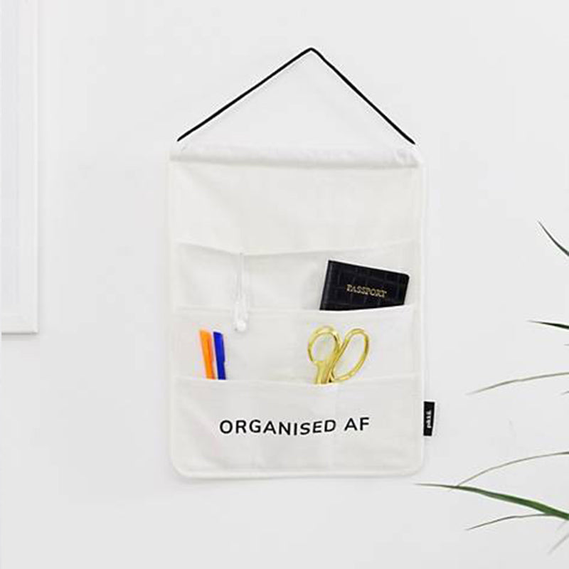 Organised AF Hanging Pocket Wall Organiser by Pikkii