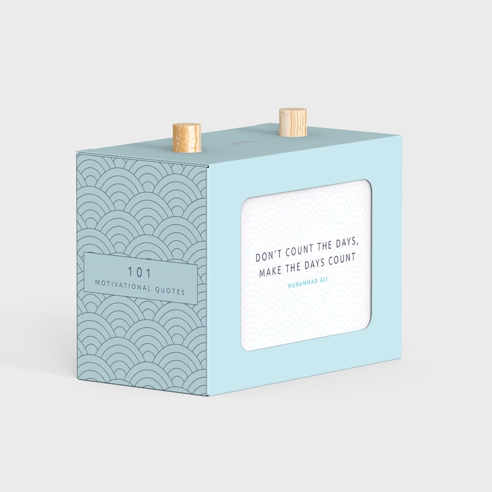 101 Motivational Quotes Scroll Box with Wooden Pegs by Pikkii