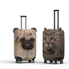 Cat and Dog Animal Suitcase Luggage Covers over white background