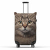 Cat Suitcase Cover by Pikkii over white background