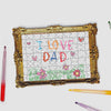 Pikkii framed drawing blank jigsaw puzzle with a kids drawing I love Dad