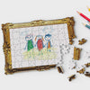 Pikkii framed drawing blank jigsaw puzzle with a kids drawing