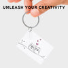 Piikkii Kids Drawing Shrink keyring Kit hand holding personalised drawing of two howls in love unleash your creativity