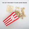 spilt popcorn box with 100 of the best movies ever made