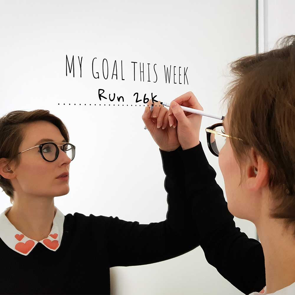 'My Goal This Week' Mirror Sticker + Pen 💯