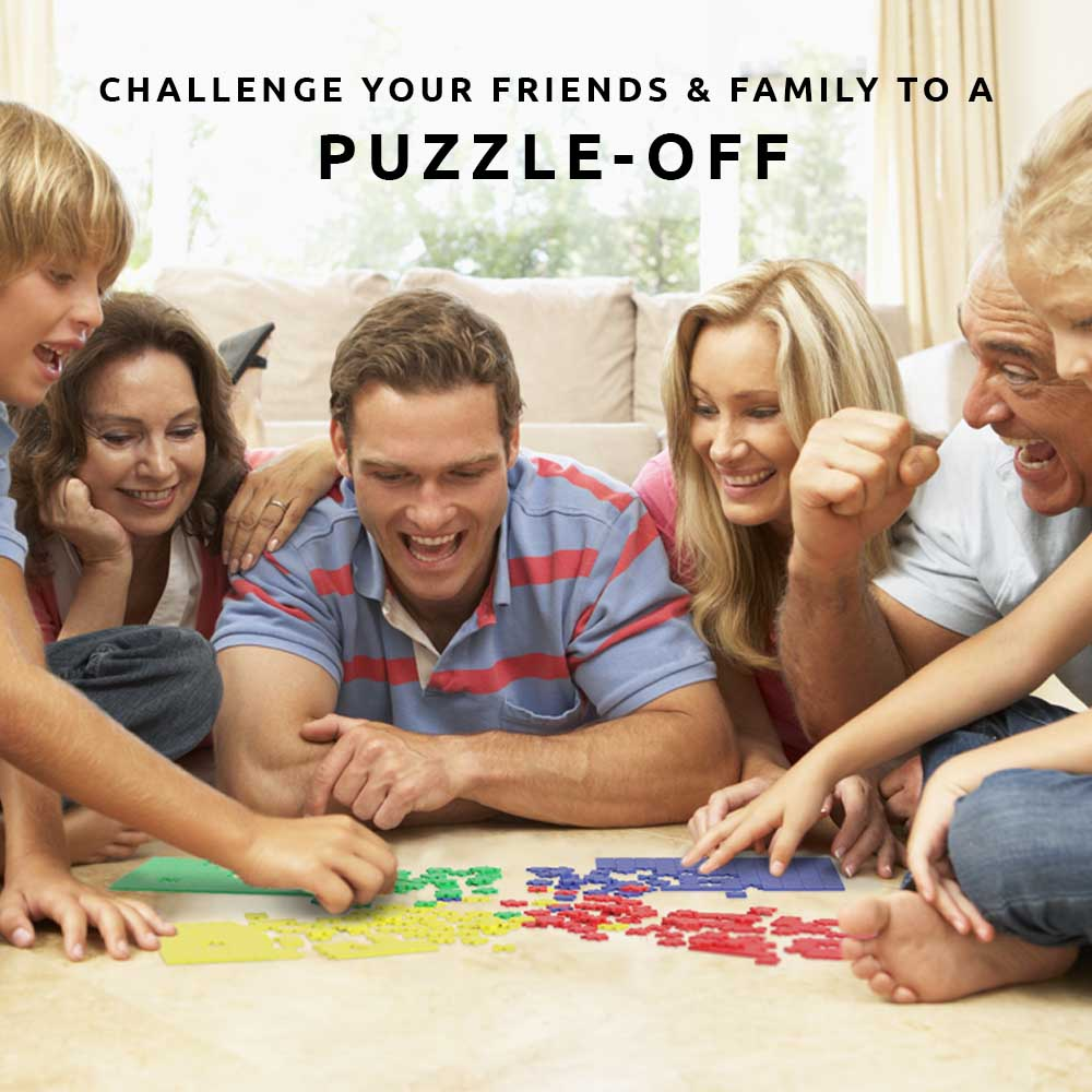 Pikkii's Puzzle off 4 Puzzles 1 winner fun games Front of Packaging over white background