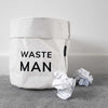 Waste Man White Cotton Bin and Waste Paper Basket